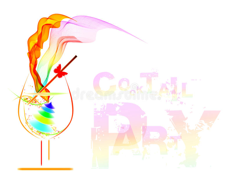 Cocktail party royalty free illustration