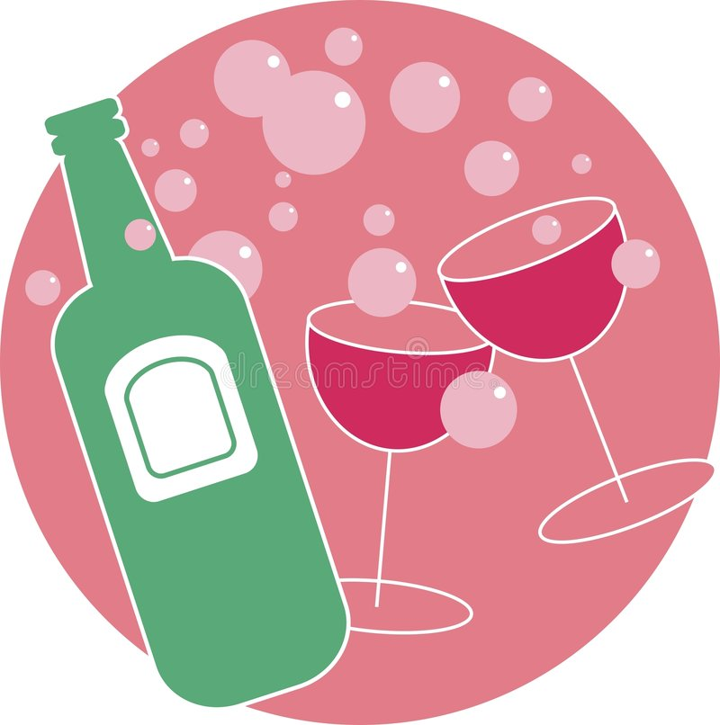 cocktail party stock illustrationer