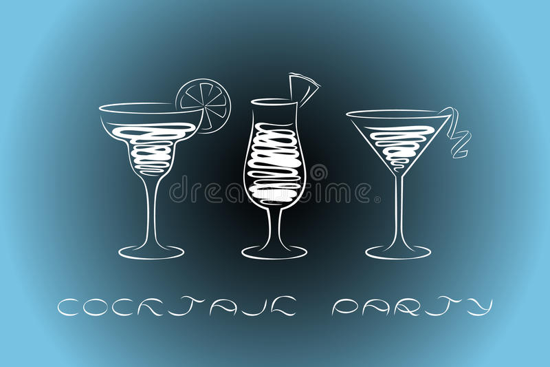 Cocktail party design menu background. vector illustration