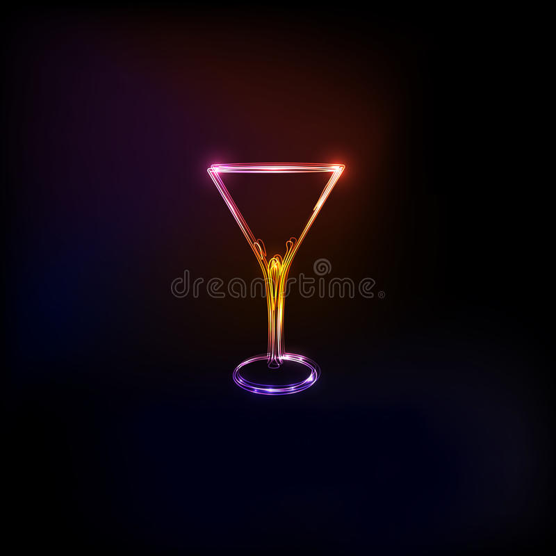 Free Cocktail Party Glass Design Logo Stock Photography - 50513092