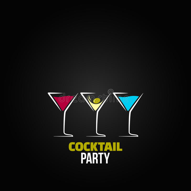 Free Cocktail Party Glass Design Menu Background Stock Photos - 36585503