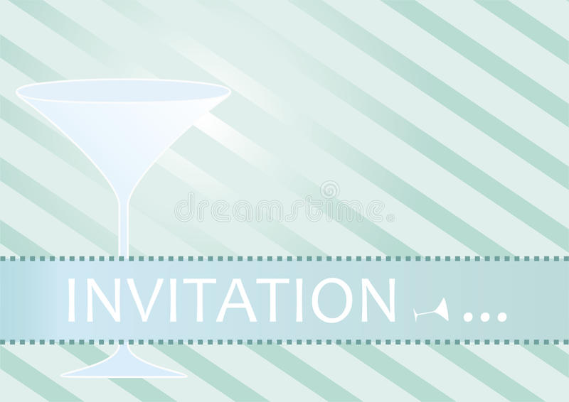 Cocktail Party Invitation Vector vector illustration
