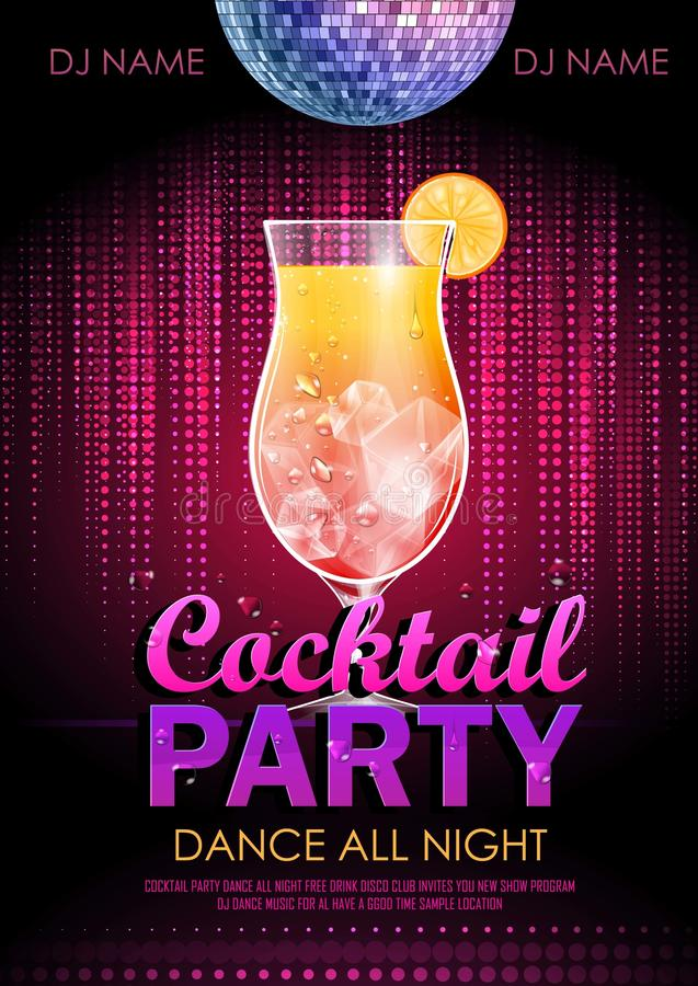 Cocktail party poster royalty free illustration