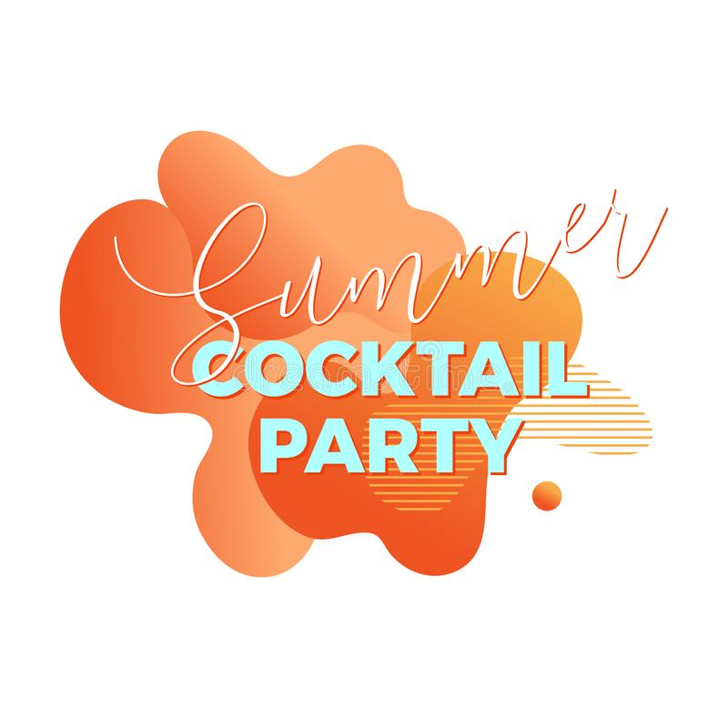 Cocktail party. Trendy abstract design template stock images