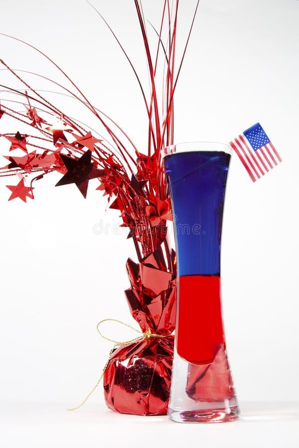 Cocktail patriotique image libre de droits