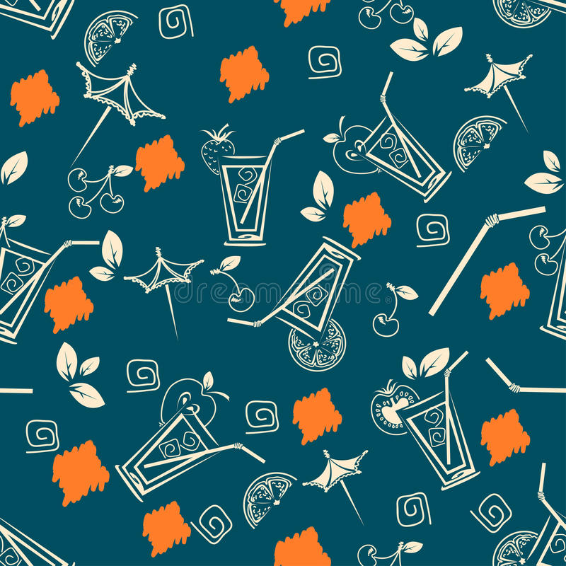 Cocktail pattern stock image