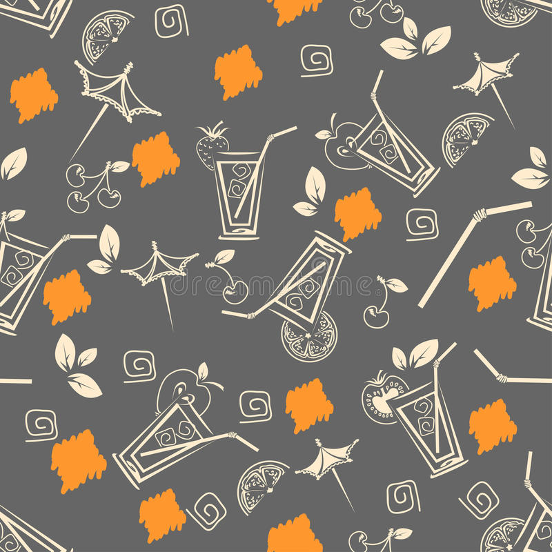 Cocktail pattern royalty free stock images
