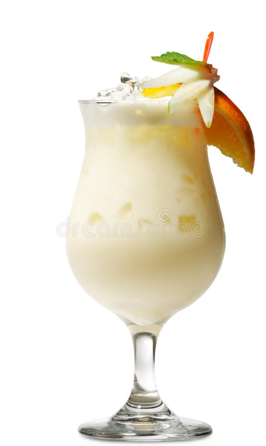 Download Cocktail - Pina Colada stock image. Image of poured, citrus - 10474771