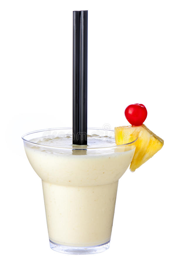 Cocktail Pina Colada Isolated fotos de stock royalty free
