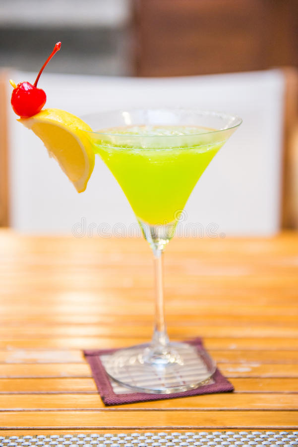 Cocktail popular do daiquiri do melão fotografia de stock