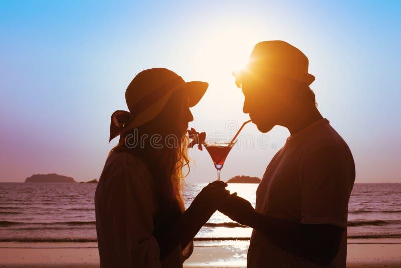 Cocktail potable de couples images libres de droits