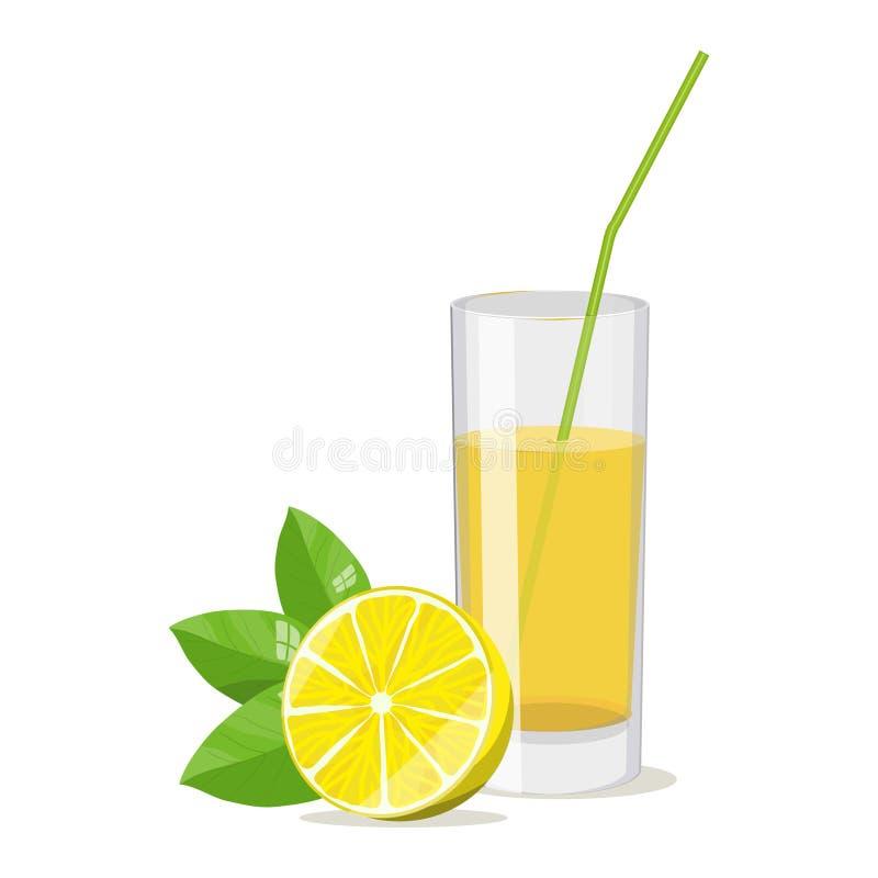 Cocktail réaliste de citron d'image illustration de vecteur