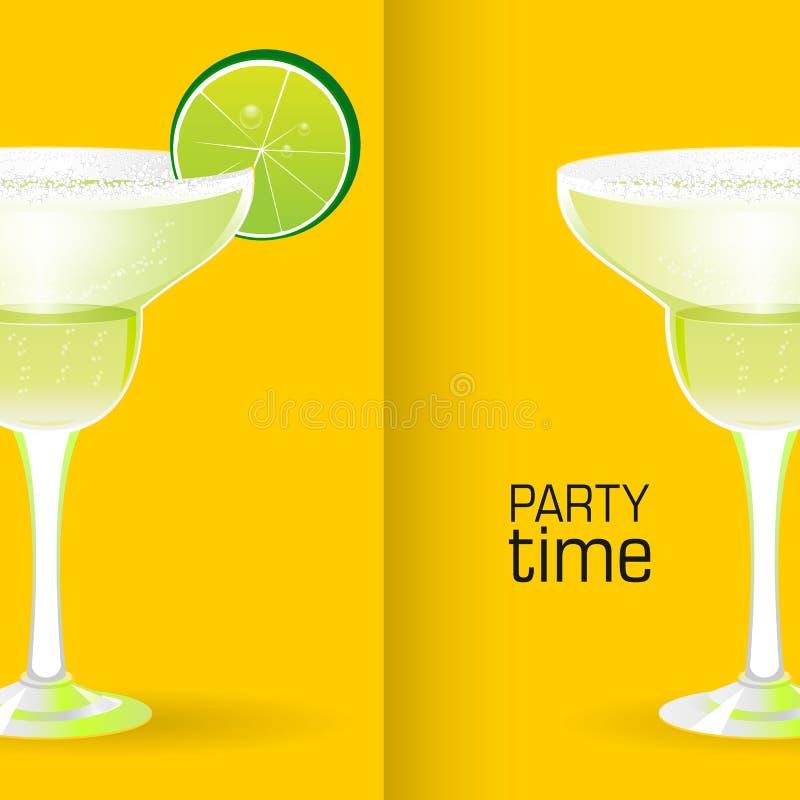 Cocktail réaliste de margarita illustration de vecteur