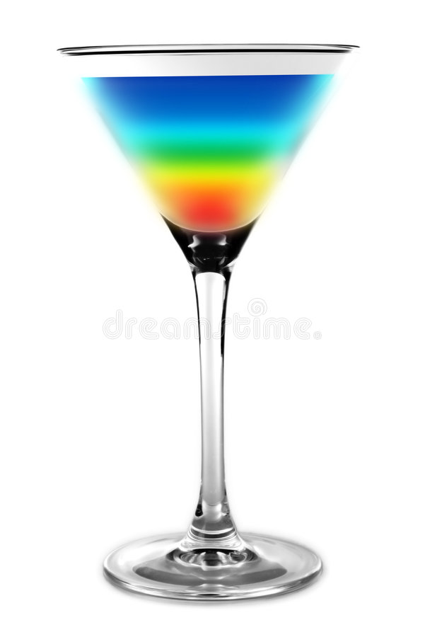 Cocktail - rainbow colors stock photography
