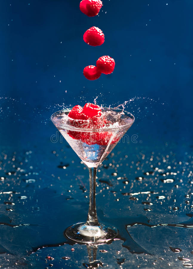 Cocktail with raspberry