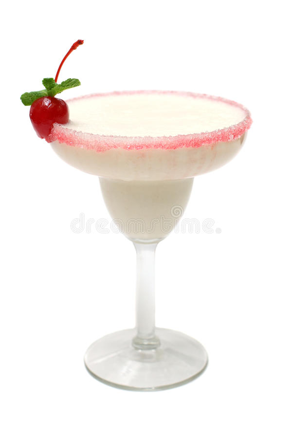 Cocktail With Red Cherry Stock Image