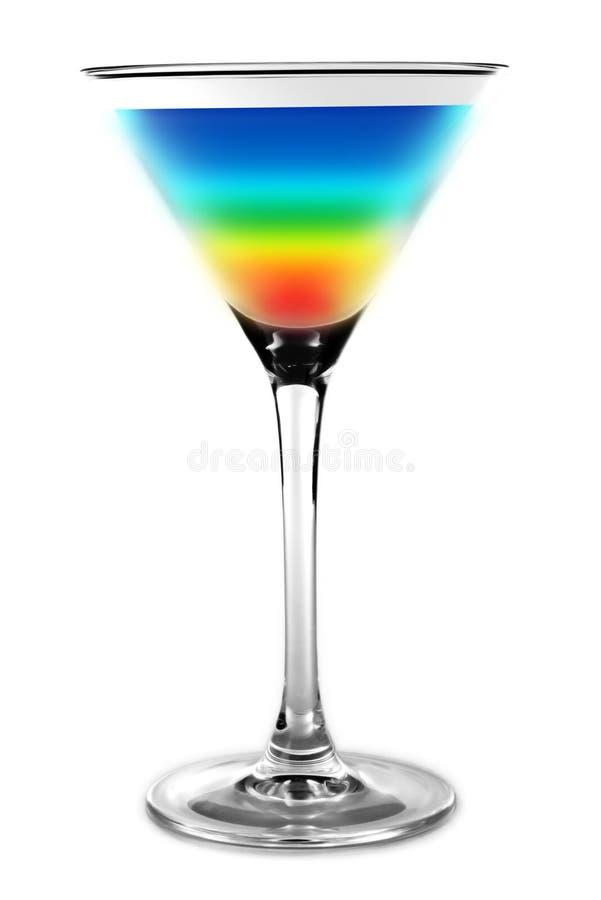 Cocktail - regenboogkleuren stock fotografie