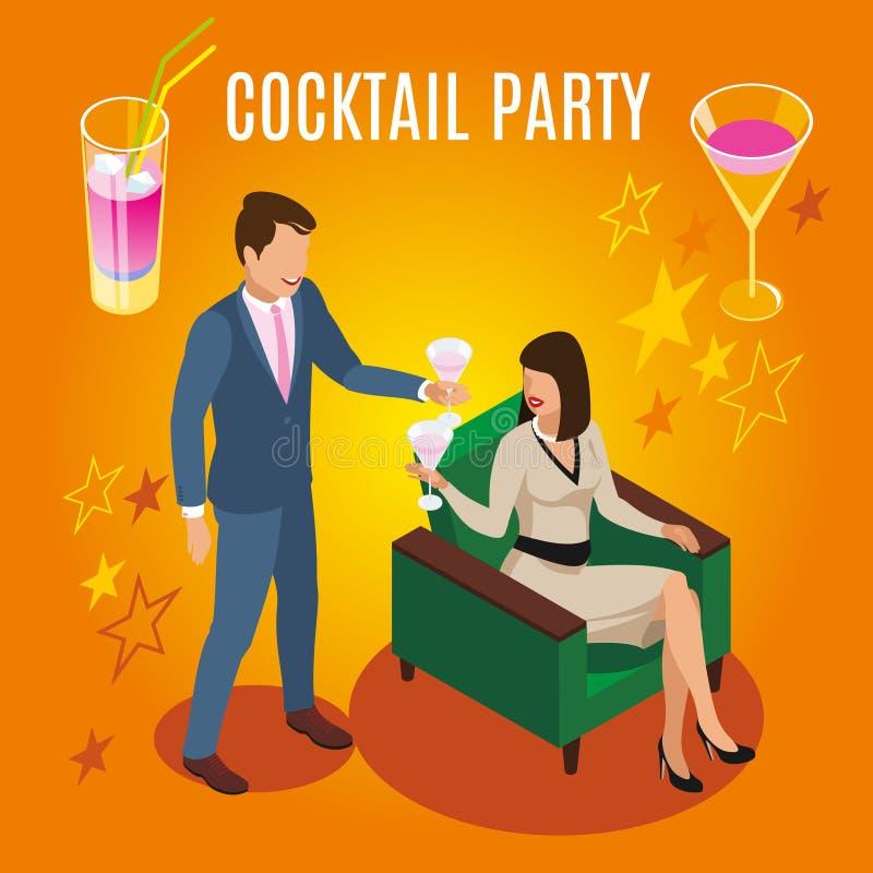 Cocktail Rich People Composition illustration de vecteur