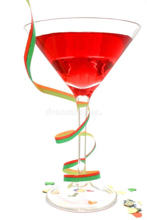 Cocktail rosso del partito immagini stock libere da diritti