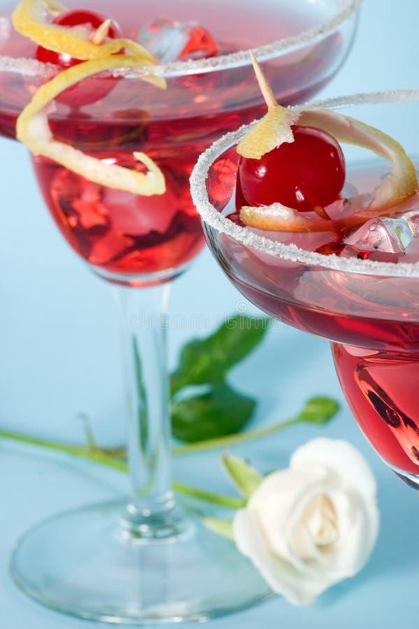 Cocktail rouge de nuage image stock