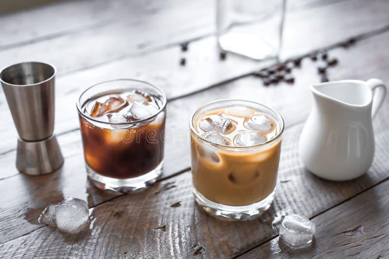 Cocktail russi in bianco e nero immagine stock
