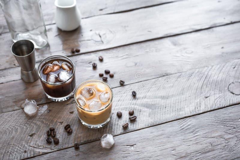 Cocktail russi in bianco e nero immagini stock