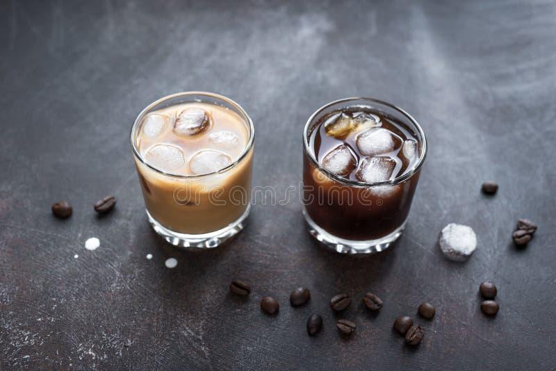 Cocktail russi in bianco e nero fotografie stock