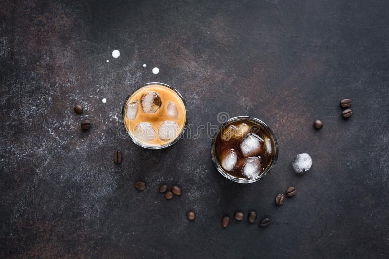Cocktail russi in bianco e nero fotografia stock
