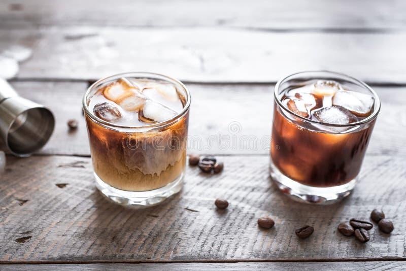Cocktail russi in bianco e nero fotografia stock libera da diritti