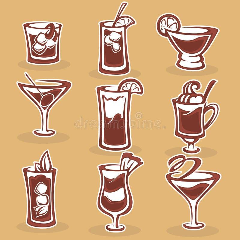 Cocktail-Sammlung lizenzfreie abbildung