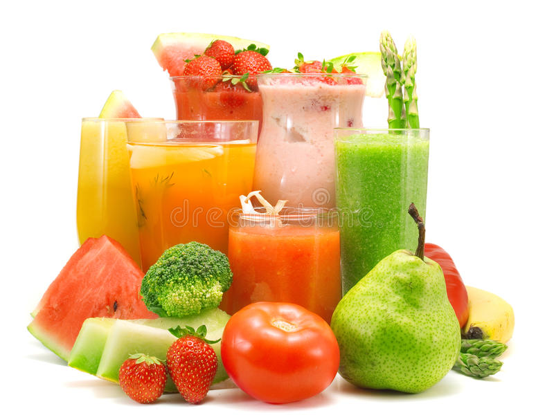 Cocktail-Sammlung - Gesunde Getränke Stockfoto - Bild von melone ...