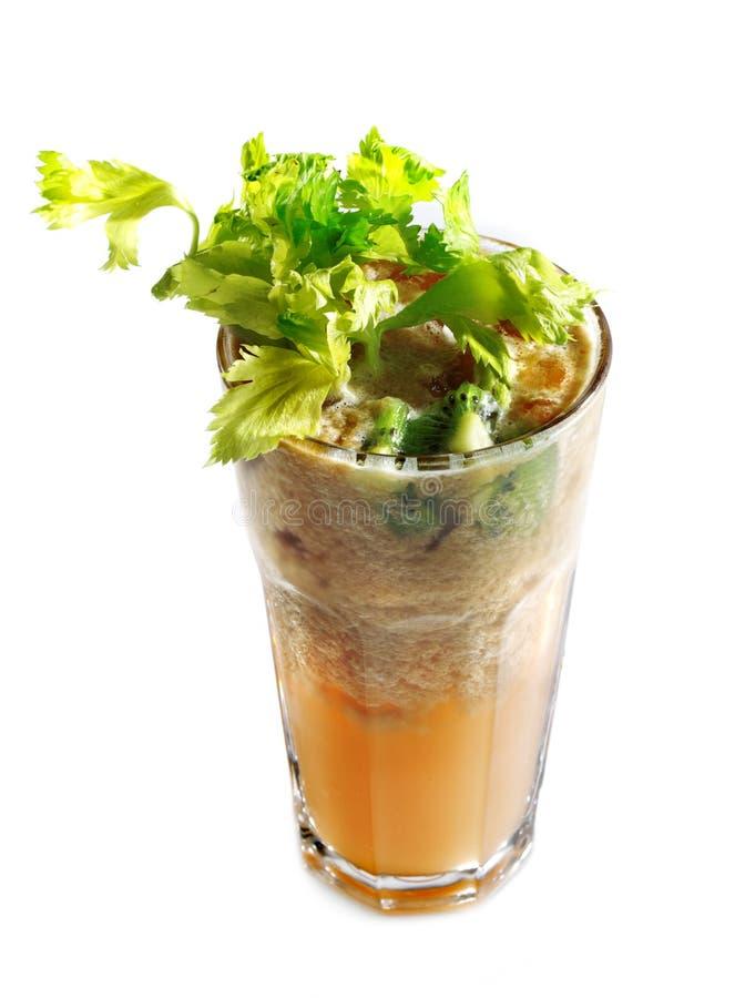 Cocktail saudável dos vegetais fotografia de stock
