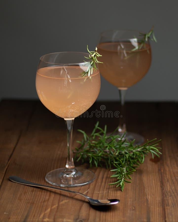Cocktail sem álcool do ruibarbo fotografia de stock