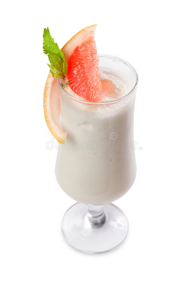 Cocktail with a slice of grapefruit stock images