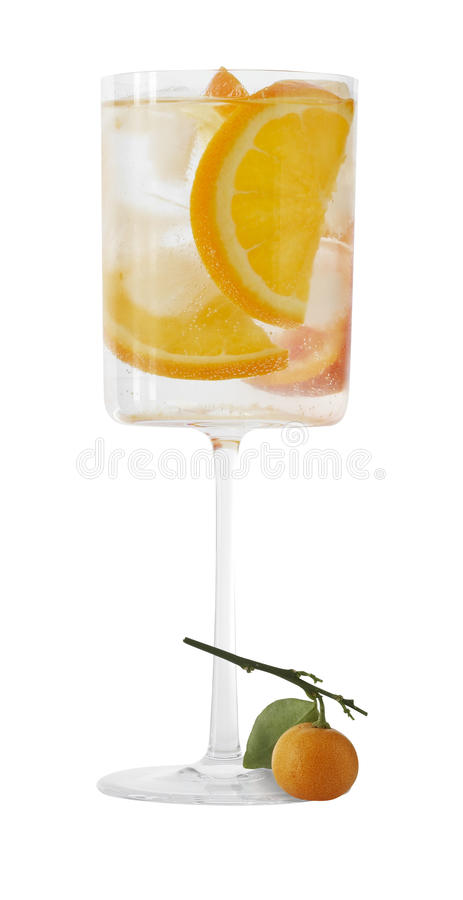 Cocktail Sparkling Screwdriver Royalty Free Stock Photos