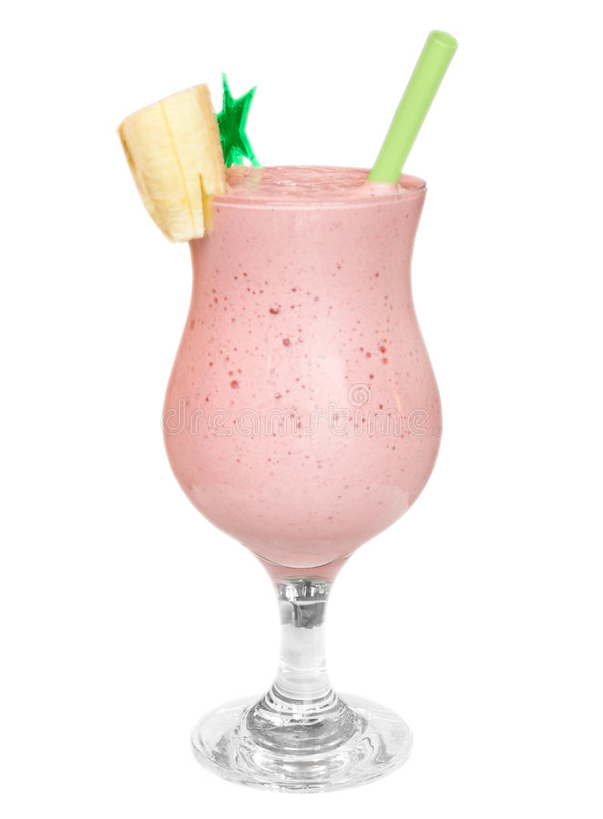 Cocktail. Strawberry Shake stock photo