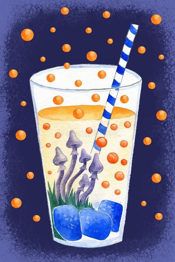 Cocktail stupéfiant illustration stock