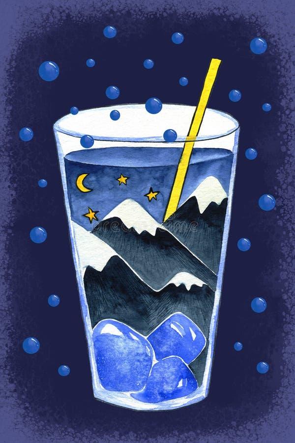 Cocktail stupéfiant illustration de vecteur