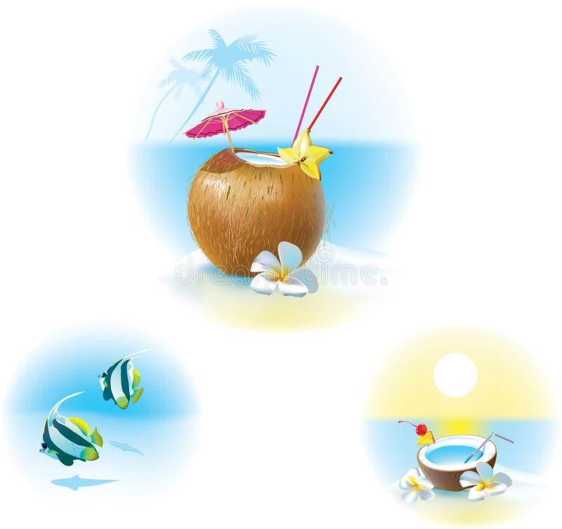 Download Cocktail sulla spiaggia illustrazione vettoriale. Illustrazione di vacanze - 56892973