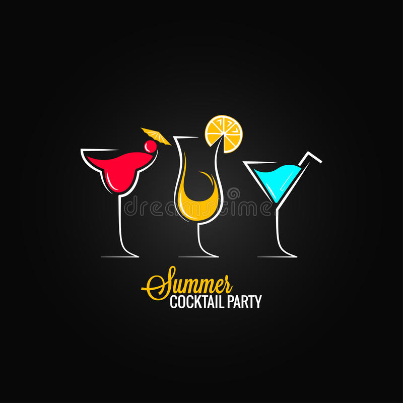 Cocktail summer party design menu background royalty free illustration