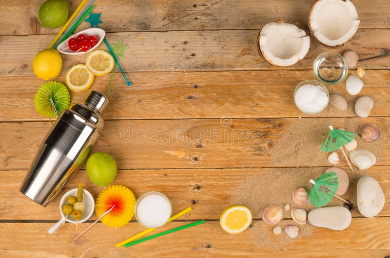 Cocktail table royalty free stock photography