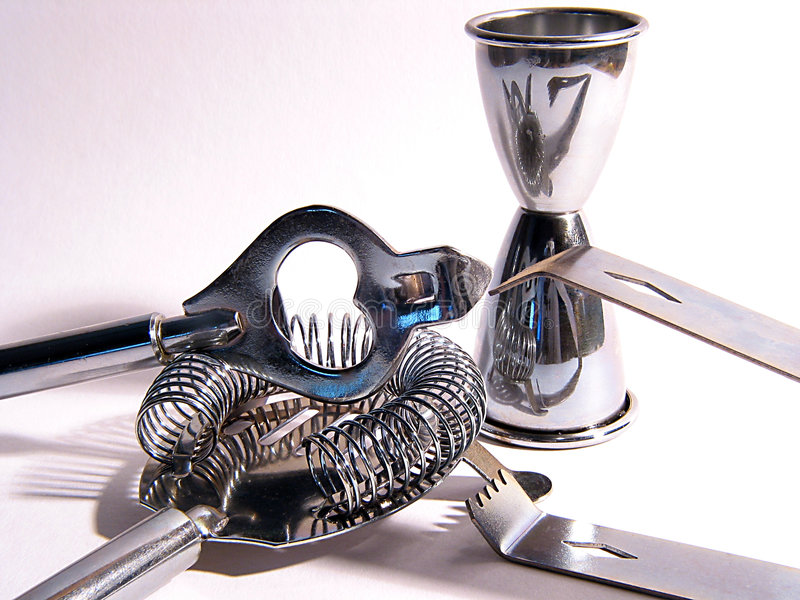 Cocktail tools royalty free stock photography