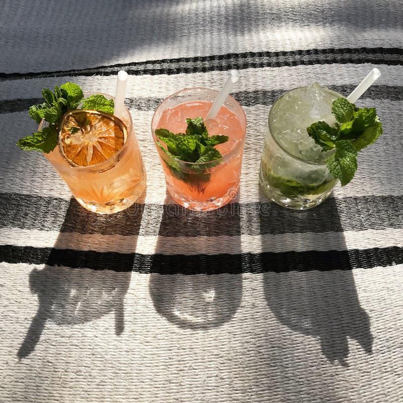 Cocktail triplo imagem de stock royalty free