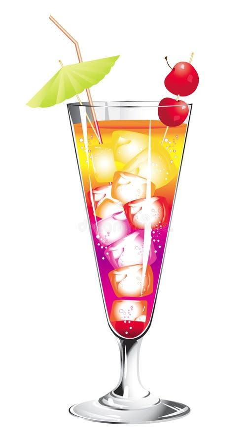 Cocktail tropical illustration de vecteur