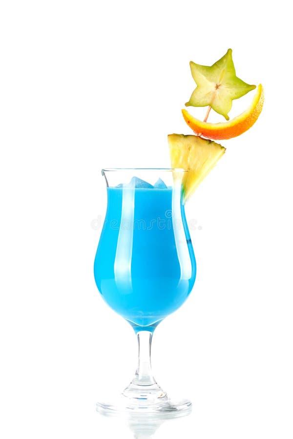 Cocktail tropical azul de Havaí fotos de stock royalty free