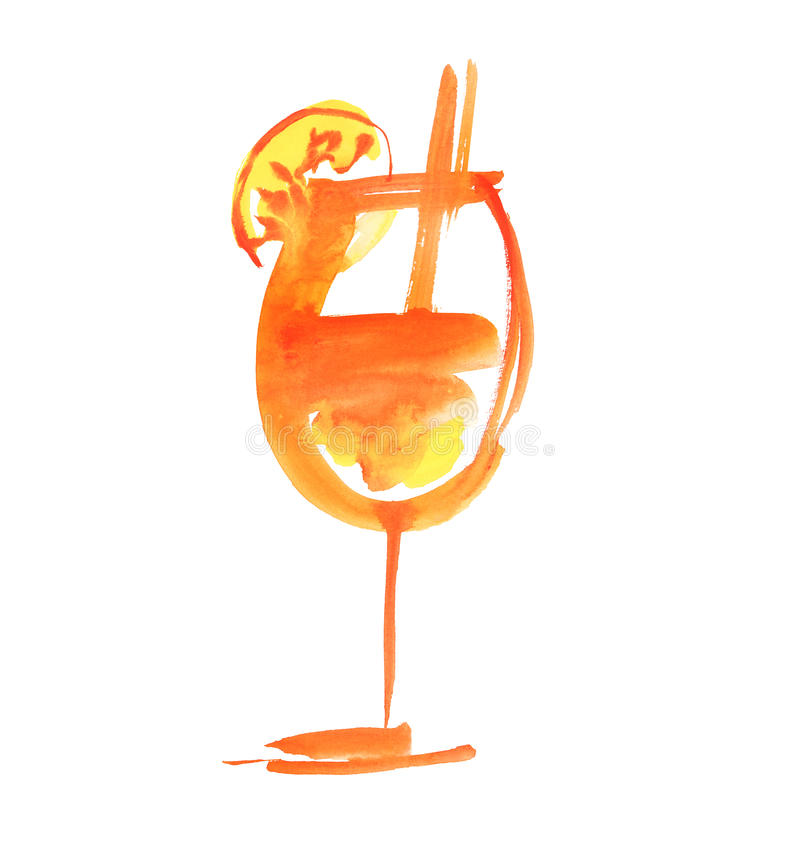 Cocktail tropical d'été illustration de vecteur