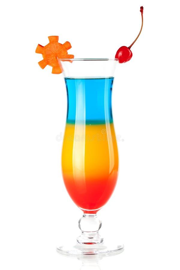 Cocktail tropical mergulhado com decoração fotografia de stock royalty free