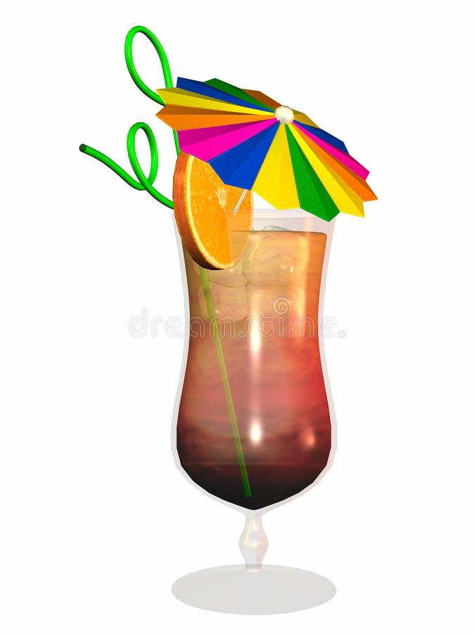 Download Cocktail with umbrella stock illustration. Illustration of white - 13084124