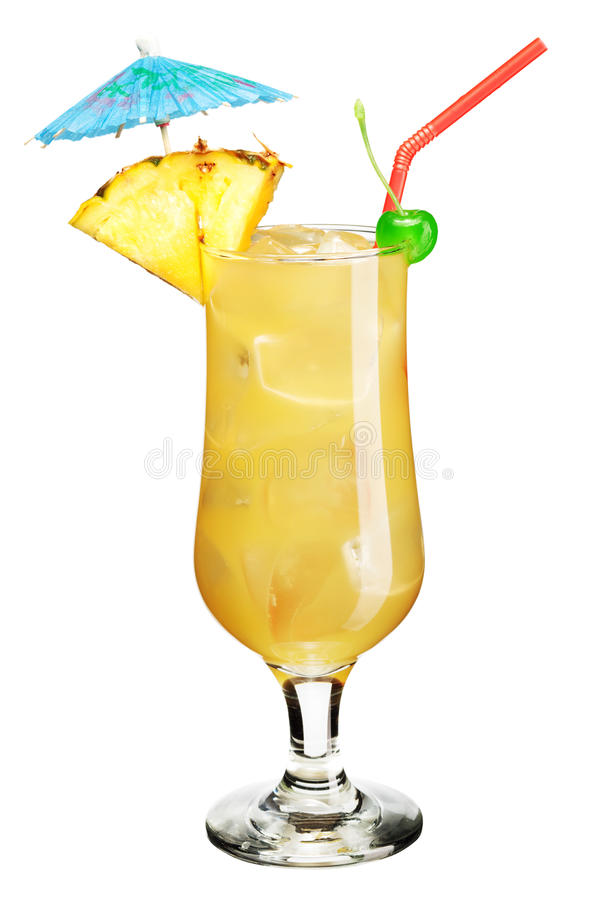Cocktail with umbrella stock photography