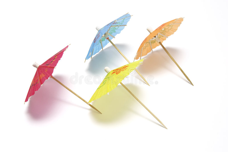 Cocktail umbrellas stock images